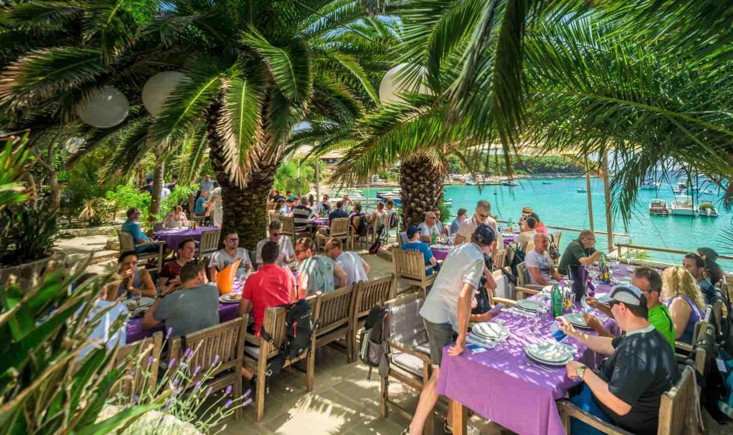 Lunch on Palmižana beach