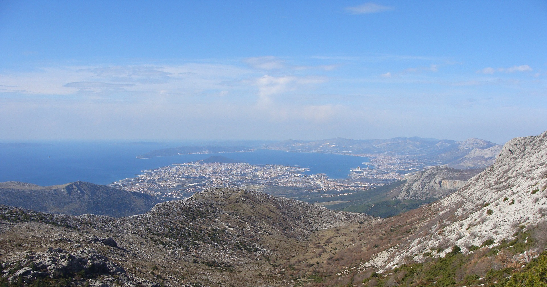 View of Split riviera from mountain Mosor
