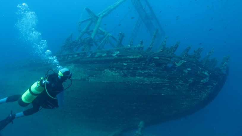 Shipwreck dive - Croatia