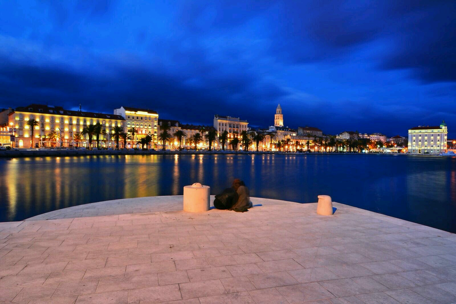 Split's Promenade with the Diocletian's Palace in the background