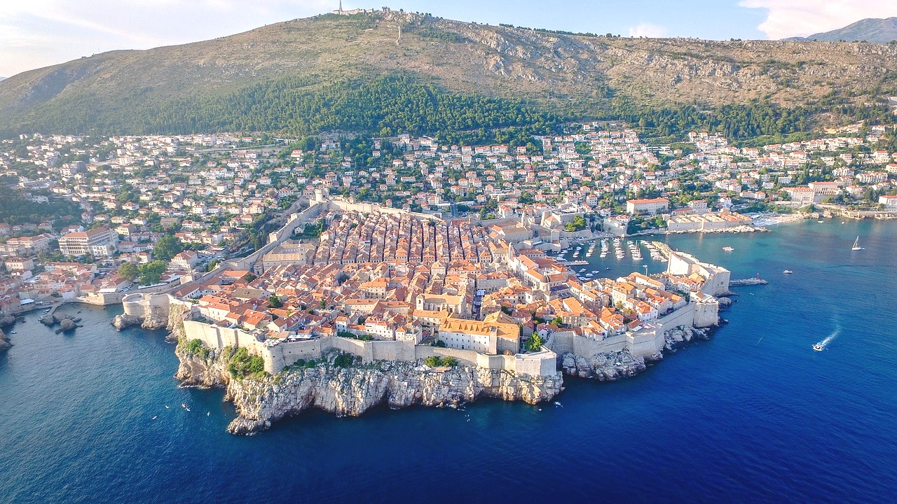 View of Dubrovnik from the sea