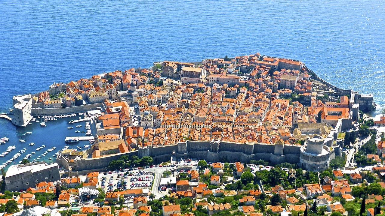 View of Dubrovnik from Srđ Mountain
